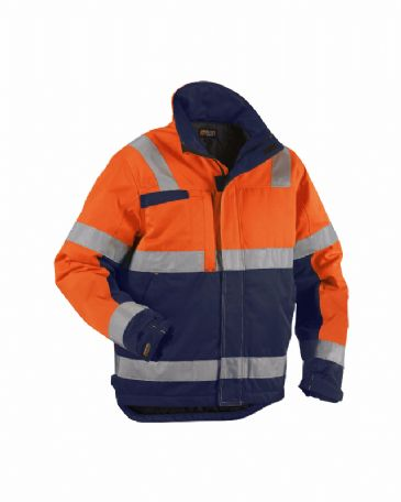 Blaklader 4862 Winter Jacket (Orange/Navy Blue)